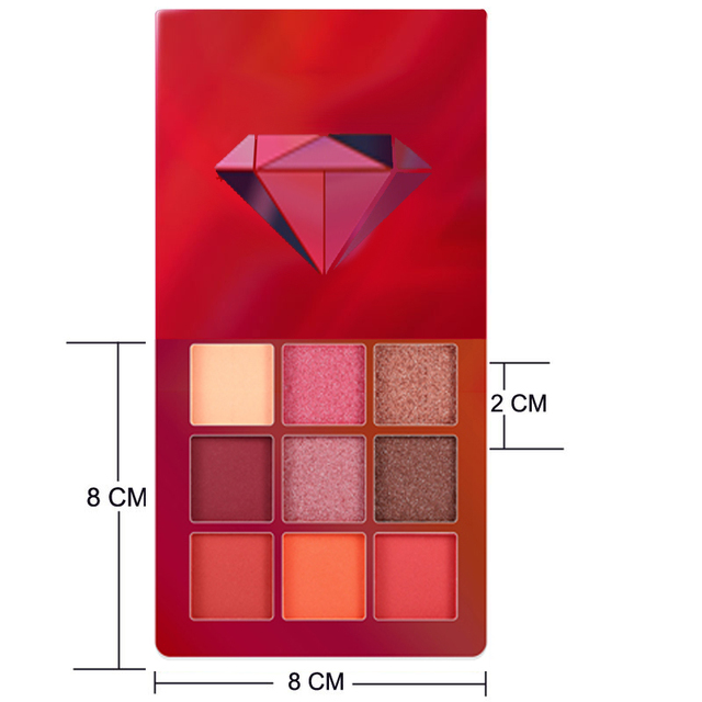9 Color Yellow Beauty Glazed Makeup Eyeshadow Pallete Makeup Brushes Shimmer Pigmented Eye Shadow Palette Make Up Palette 5