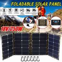 Mochila de camuflaje 250W Panel Solar plegable portátil plegable Panel Solar cargador de energía Solar cargador de batería con puerto USB Dual