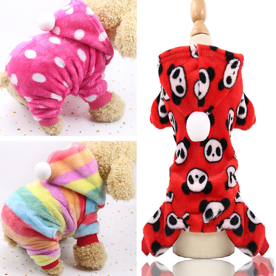 New Cute Winter Dog Clothes Jumpsuit Warm Dog Coat Costume Pet Clothing Puppy Outfits Overall For Small Dogs Chihuahua Yorkshire