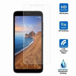 Image 2 - 2Pcs For Xiaomi Redmi 7A Glass For Xiaomi Redmi Note 9S 8 7 Pro 6 6A 8A 8T Tempered Glass Film Screen Protector Camera Lens Film