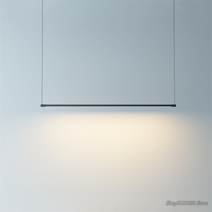 Minimalist Line Strip Pendant Lamp LED DiningRoom Light Dining Table Office Modern Pendant Lights Hanging Lamps Lighting Fixture