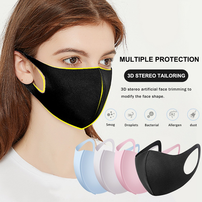 3Pc Mouth Mask Anti Dust Mask Activated Carbon Windproof  Face MasksWashable Dustproof Reusable For Adult Kids