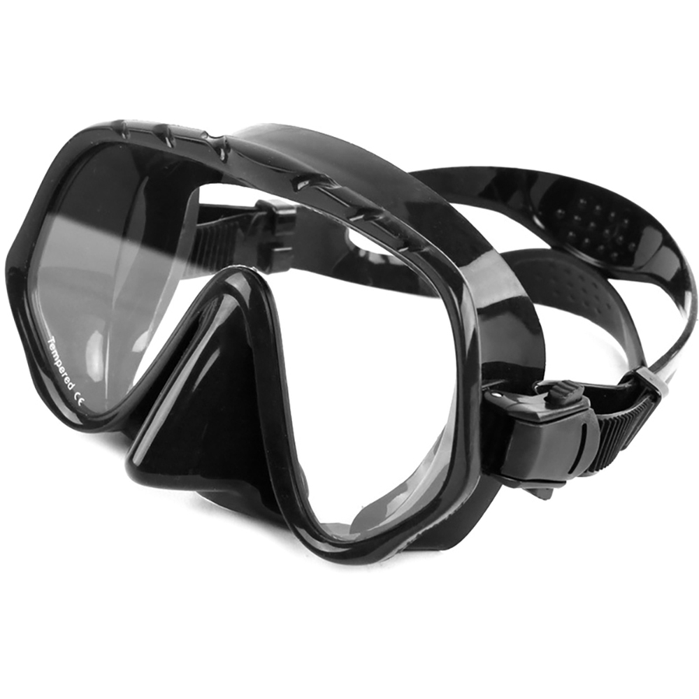 Underwater Diving Mask Scuba Snorkel Goggles Anti Fog Silicone Half Face Glasses Tempered Glass Lens