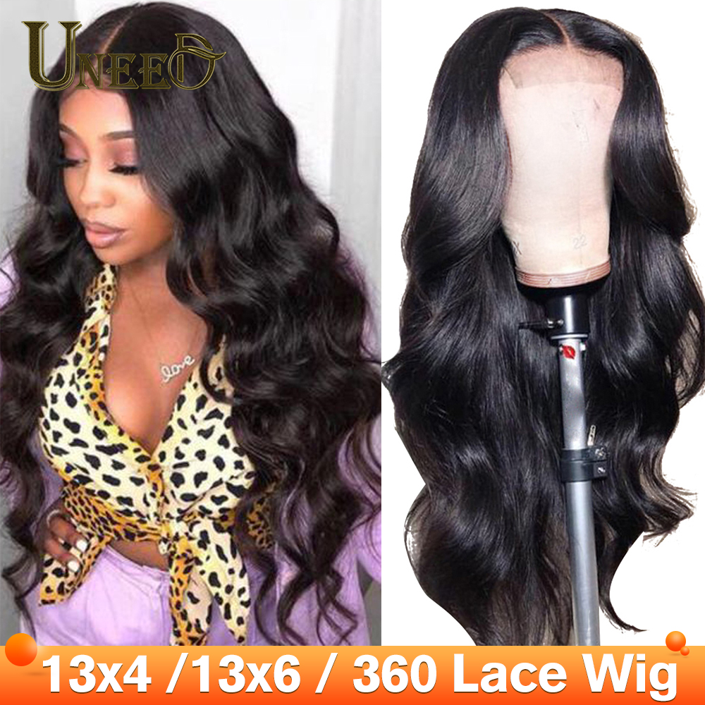 360 Lace Frontal Wigs 180% Body Wave Lace Front Human Hair Wigs For Women Pre Plucked Peruvian Body Wave Remy Hair Baby Hair