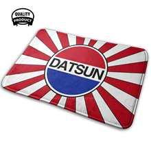 Datsun logotipo e nascer do sol 3d macio tapete antiderrapante tapete almofada datsun japão japonês jdm jdm lendas datsun 280z datsun