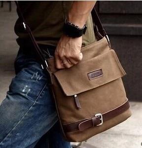 Image 2 - Новинка 2020 мужская сумка для отдыха сумка через плечо с дорожным холщовым материалом мужские сумки через плечо сумка мессенджер