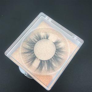 Image 5 - Bán buôn đặt hàng 50 cặp/lô logo tự do MIKIWI Hộp Tùy 24 Phong Cách mềm mại kịch tính kẻ Mắt 5D thực chồn tay dày lông mi