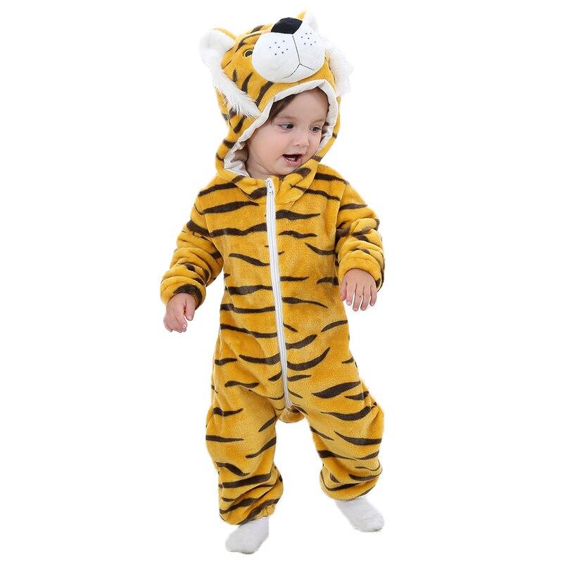 Onesies For Baby Tiger Boy Girl Sleepwear, Winter Bebe Animal Pajamas Kigurumi ,Cosplay Costume One-Piece Pijama Newborn Clothes