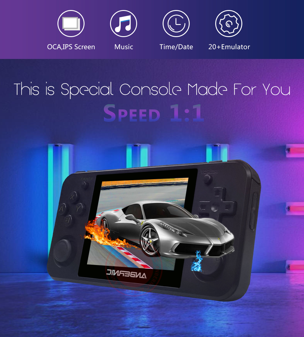 ANBERNIC NEW  RG350P IPS Retro Games 350 Video games Upgrade game console ps1 game 64bit opendingux 2500+ games rg350M HDMI IPS 3