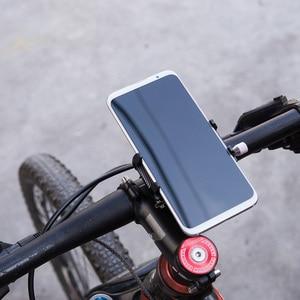 Image 5 - אופניים קטנוע אלומיניום סגסוגת נייד טלפון מחזיק MTB הרי אופני סוגר טלפון סלולרי Stand רכיבה על אופניים אבזרים