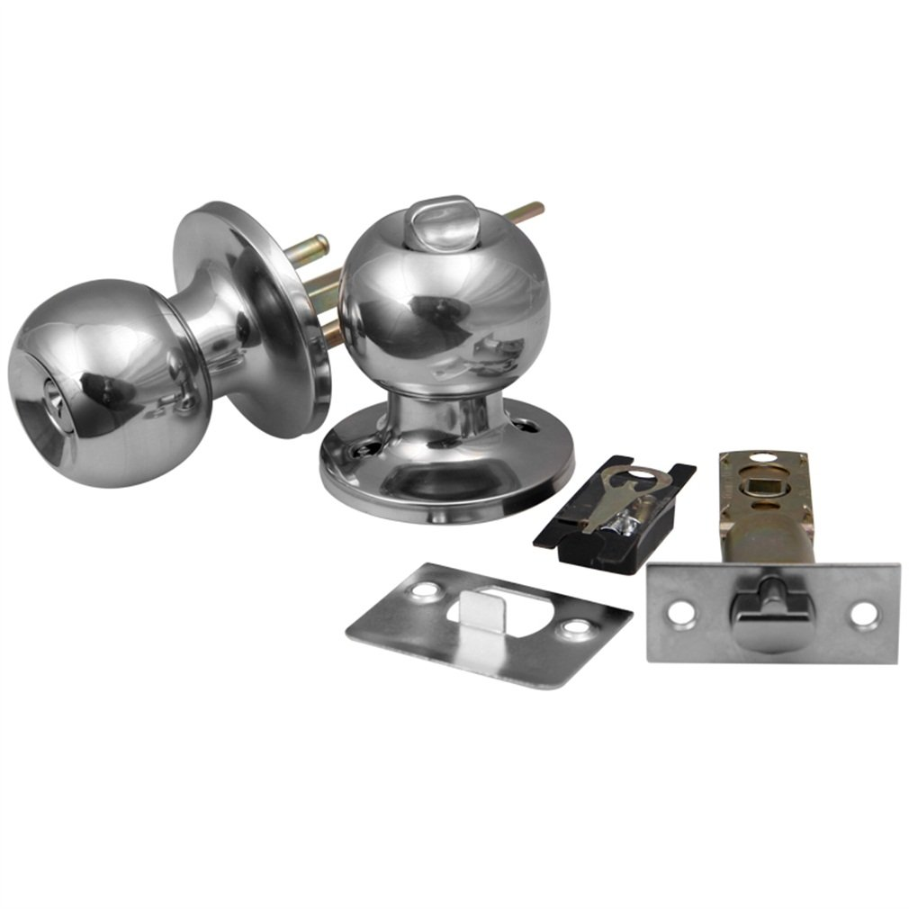 Adjustable Latch 33-57mm Brushed Chrome Door Handle Handles Locks Latch Latchs Knobs SET Stainless S