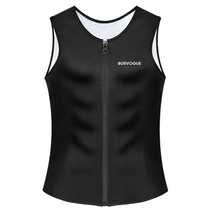 Image 2 - Burvogue Sweat Sauna Body Shaper Men Slimming Vest Thermo Neoprene Waist Trainer Corsets Zipper Shapewear Sauna Suits Tank Top