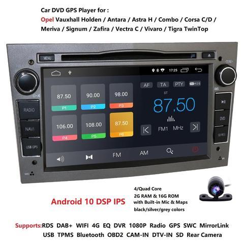 reprodutor multimidia 16gb 2gb do radio do carro do nucleo do quadrilatero de android 10