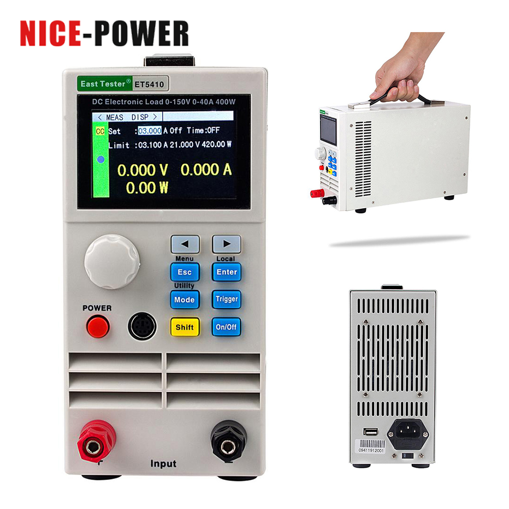 The Best Et5420 Et5410 Electrical Load 150v 40a/15a 400w Professional Programmable Digital Dc Load Electronic Battery Tester Load Meter Easy To Use