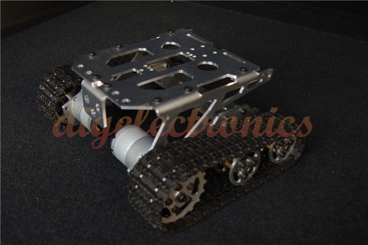 High Quality Metal Aluminum Alloy Smart Robot Tank Chassis Kits RC Tracked Car Intelligent RC Toys for Kids diy Robot Models