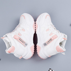 Image 4 - SWYIVY PU Chaussures Femme Chunky Sneakers For Women Casual Shoes 2020 Spring High Top Women White Shoes Breathable Ladies Shoe