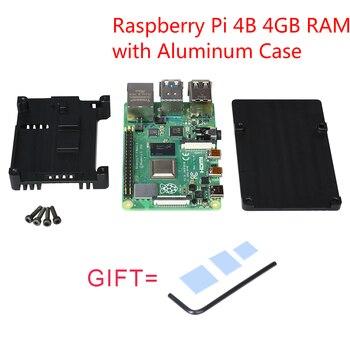 Raspberry Pi 4B Development Board Kit + Aluminum Case 4GB RAM Cortex-A72 Support WIFI Bluetooth 5.0 Raspberri Pi 4 Modle B New bluetooth 4 ble multifunction pedometer keyfob development board to support the anti lost ibeacon