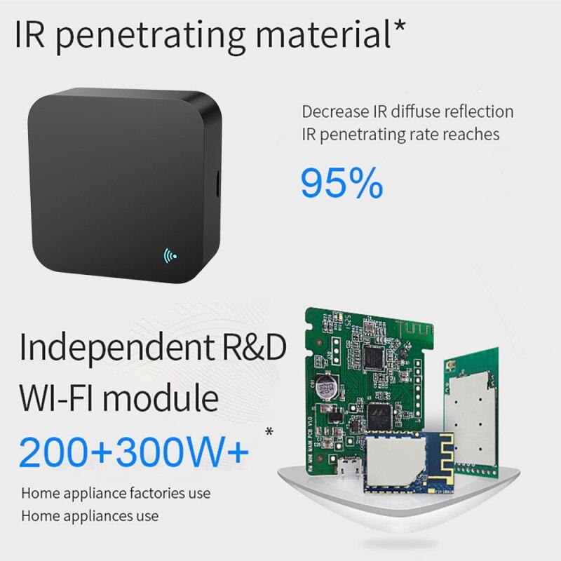 Самый маленький умный ИК-пульт дистанционного управления Wi-Fi для умного дома, совместим с Alexa, Google Assistant, IFTTT, Smart Life, TuyaSmart
