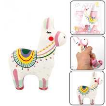 Cute Colorful Sheep Alpaca Squishy Squeeze Animal Toys Slow Rising Scented Stress Relief Toys For Children Adult Kids Gifts
