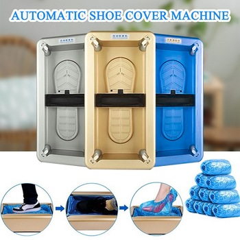 Automatic Shoes Cover Dispenser Household Stepping Disposable Booties Maker Anti Droplet Dust Machine Shoe Cover For Home Office