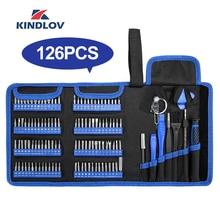 KINDLOV Schraubendreher satz Präzision Schraubendreher Tool Kit Magnetische Phillips Torx Bits 126 In 1 Reparatur Hand Werkzeuge Für Telefon Laptop