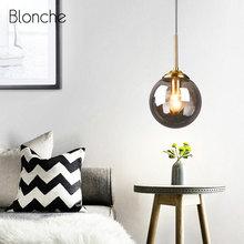 Modern Pendant Lights Led Glass Hanging Lamp for Kitchen Dining Room Bedroom Nordic Pendant Lamp Industrial L Light Fixtures