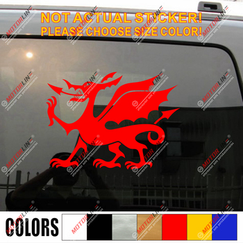 Wales Red Dragon Decal Sticker Welsh Y Ddraig Goch Car Vinyl pick size color g image