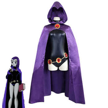 Hot Anime Teen Titans Raven Cosplay Costume Female Superhero Outfits Girl Spandex Comic Suit Halloween Carnival Uniforms - DISCOUNT ITEM  31% OFF All Category