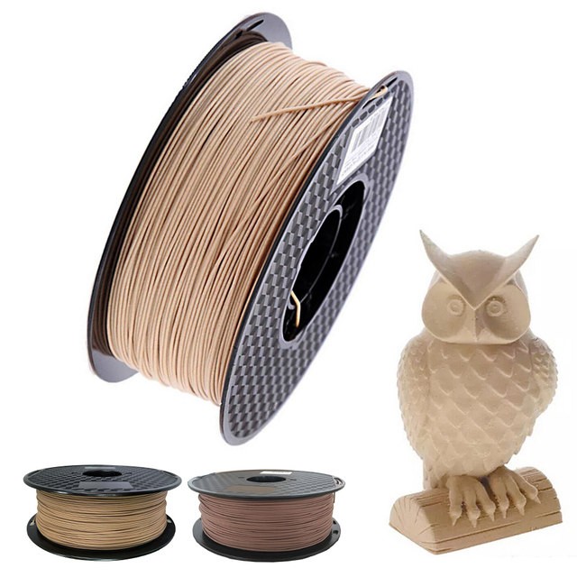 PLA Filament 1.75mm Wood Pla Filaments 3D Printer Non toxic 500g/250g Sublimation Supplies Wooden Effect 3D Printing Materials
