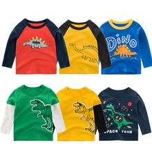 Детские футболки из хлопка коллекция года; милые футболки с длинными рукавами и героями мультфильмов для мальчиков и девочек; сезон осень-зима; толстовки для детей; футболки для мальчиков