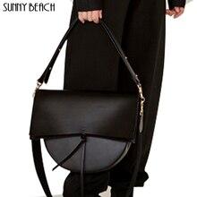 Sunny Beach Bag Vintage Schoudertas Vrouwelijke Handtas Crossbody Meisje Bolsas Pu Lederen Tas Bakken Luxe Tas