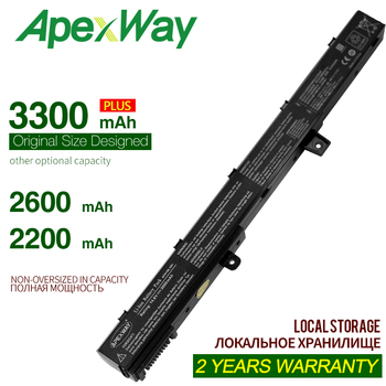 ApexWay 14.8V 3300mAh A41N1308 A31N1319 batterie d'ordinateur portable pour asus X451 X551 X451C X451CA X551C X551CA Série 0B110-00250100 X551M