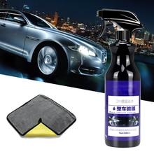 Ceramiczna powłoka samochodu Nano polerowanie wosk w sprayu malowane detale samochodów pielęgnacja Nano płynna powłoka hydrofobowa ceramiczna 500ML z szmatką