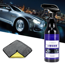 De revestimiento de coche Nano pulido Spray cera pintado detallado de coches importa Nano líquido recubrimiento hidrófobo de cerámica de 500ML con tela