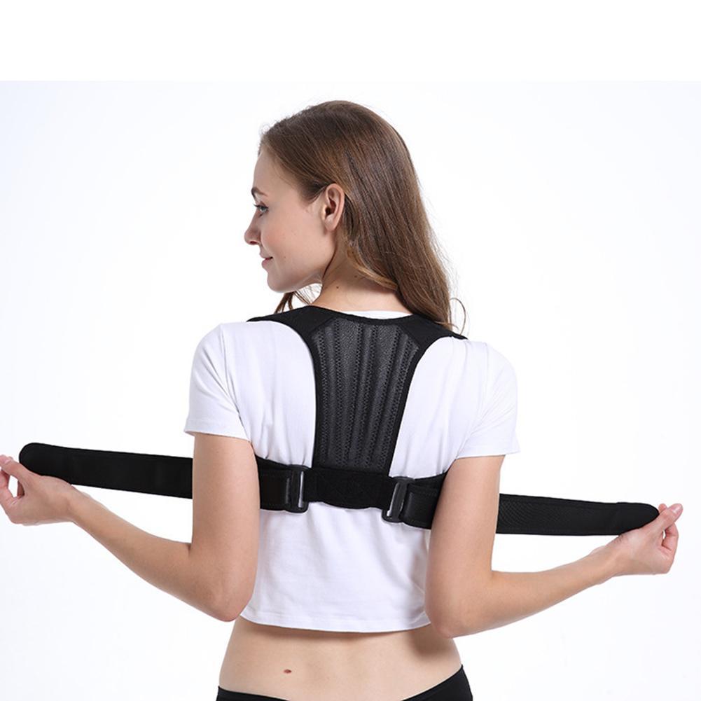 Ladies Adult Adjustable Posture Corrector Back Spine Support Belt Brace Net Breathable Humpback Corrective Shoulder Strap Girdle