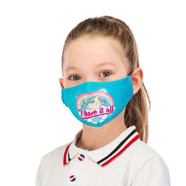 Face Mask For Kids Fashion Reusable Mouth Mask With 2pcs PM2.5 Filter Anti Dust Masks For Germ Protection kpop Printed Mask 1