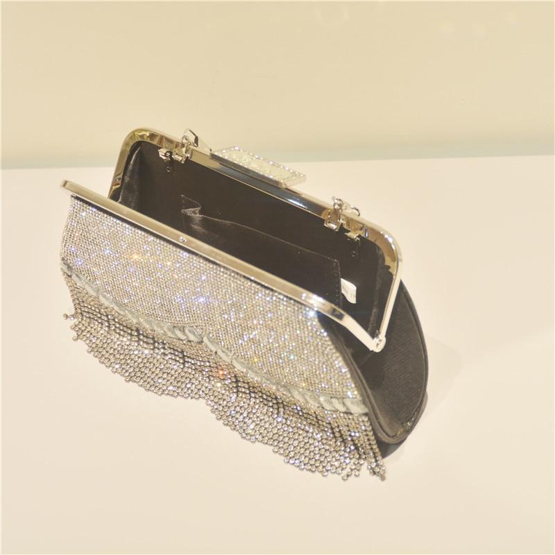 Bag For Women Luxury Bling Diamond Clutch Handbag Rhinestone Beaded Tassel Evening Bag Ladies Crystal Wedding Bridal Purs-BeeInFly