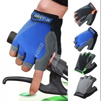 1Pair Half/ Full  Finger Cycling Gloves -Slip -sweat Gel Bicycle Riding Gloves  Shock MTB Road Mountain Bike Sports Gloves
