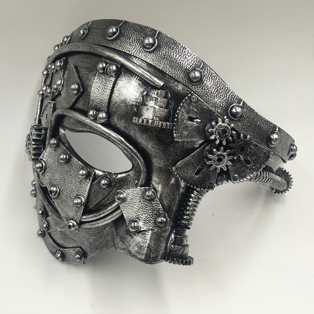 Steampunk Phantom Masquerade Cosplay Mask Ball Half Face Men Punk Costume Halloween Party Costume Props