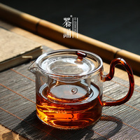 Glass teapot transparent high temperature resistant thickened filter tea cooker simple household heated tea pot water kettle
