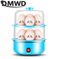 DMWD 14 Eggs boiler Electric Egg Cooker steamer Cooking Pan Multifunction Double Layer Mini boiled omelette Utensils EU US plug