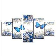 Настенные художественные 5 картин плакаты с бабочками аниме