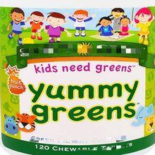 Salud de los niños, una poderosa combinación de vitaminas naturales y clorofila, sabor a jugo de fruta, 120 piezas