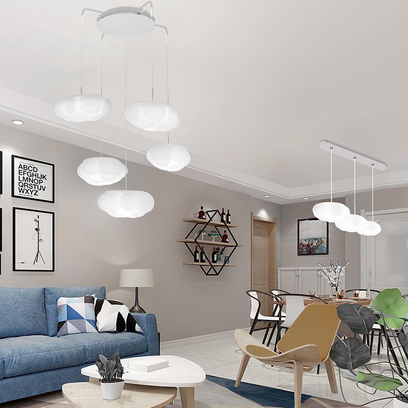 LED Cloud Ceiling Lamp Modern Minimalist Household Bedroom Living Room Chandelier Corridor Hallway Balcony Northern European-Sty