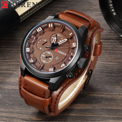 CURREN Watch Men Top Brand Luxury Mens Watches Male Clock Date Sport Military Clock Leather Band Business Men Watch Reloj Hombre