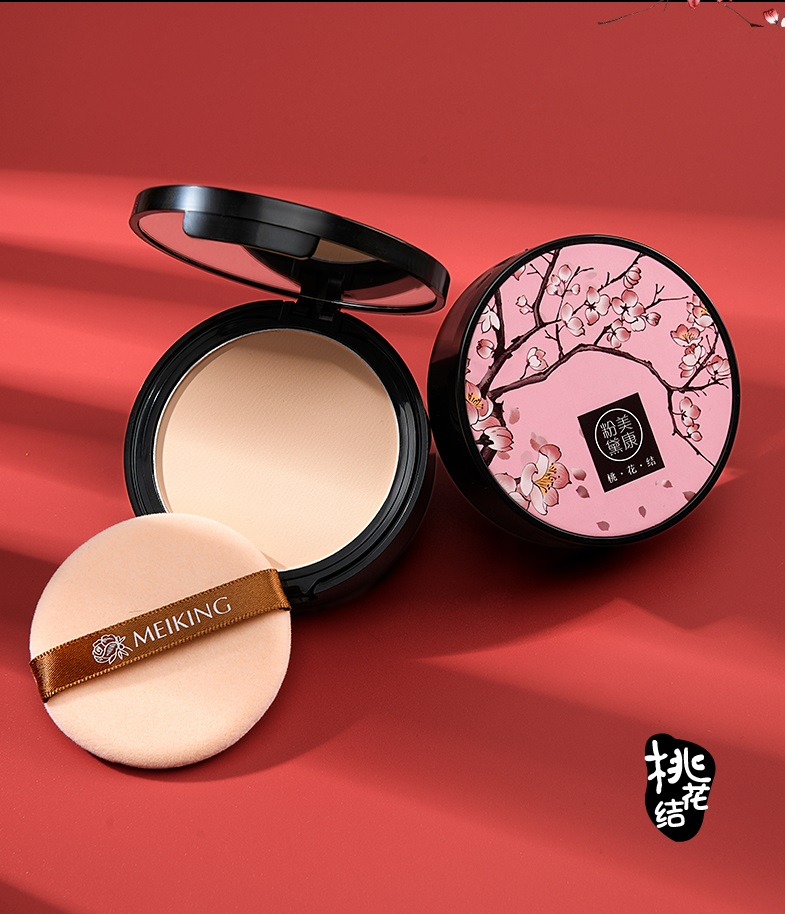 Skincare Rose Peach Blossom Face Powder Translucent Matte Makeup Setting Pressed Powder Foundation Oil Control Pores Invisible image