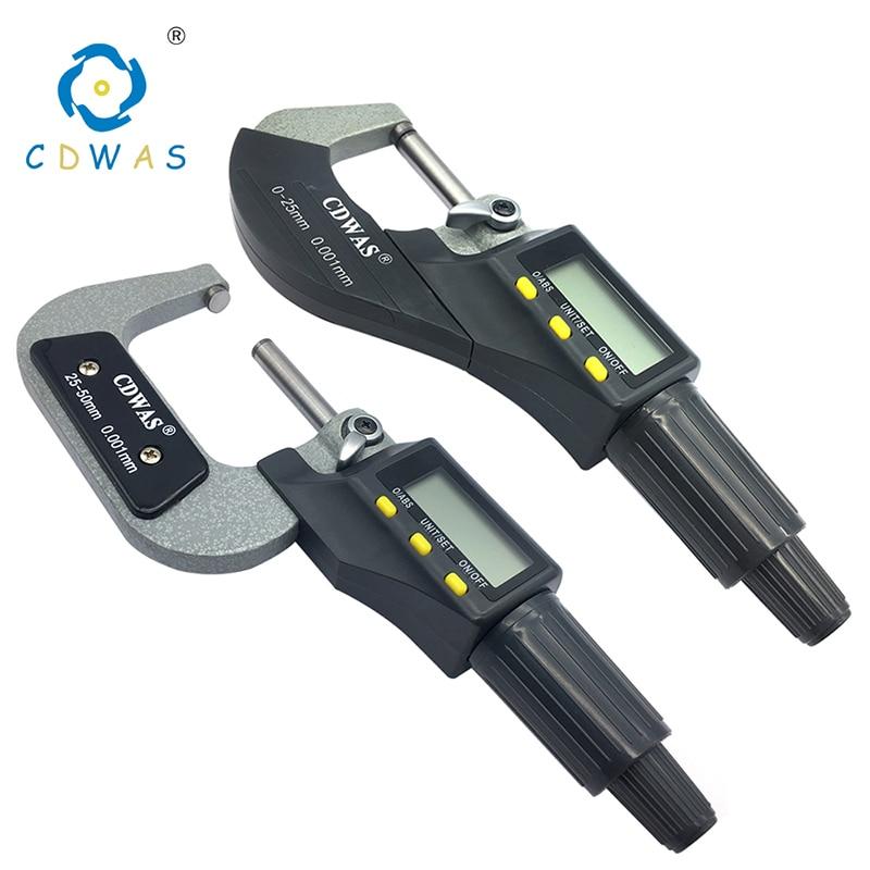 Цифровой микрометр 0-25 мм 25-50 мм 50-75 мм 75-100 мм, электронный Внешний микрометр 0,001 мм, измерительный прибор