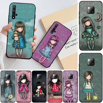 Cartoon Lovely Santoro Gorjuss Black TPU Soft Rubber Phone Cover For Honor 20 20lite view20 7C 8C 7A 8A 10i 20i PLAY 9X Pro