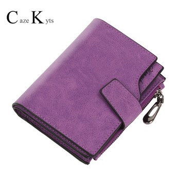 Caze Kyts 2020 New Wallet Womens Short Buckle Student Scrub Multi-Card Zipper Women