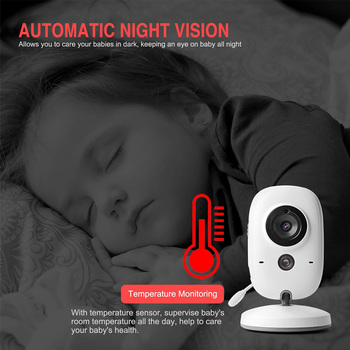 Baby Monitor Baby Nanny Security Camera VB60 3 .2 inch  WIFI Camera Wireless Video Color LCD HD Night Vision Temperature Monitor explosion models wireless digital baby monitor 7inch lcd baby monitoring color lcd multi linguge